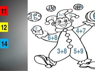 11 12 14 12 14 12 11 14 5+7 11 14 6+8 4+7 3+8 5+9