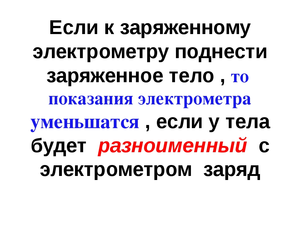 Если к заряженному электрометру поднести заряженное тело , то показания элект...