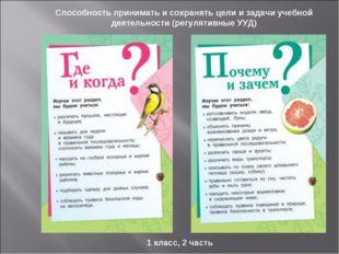 Способность принимать и сохранять цели и задачи учебной деятельности (регулят