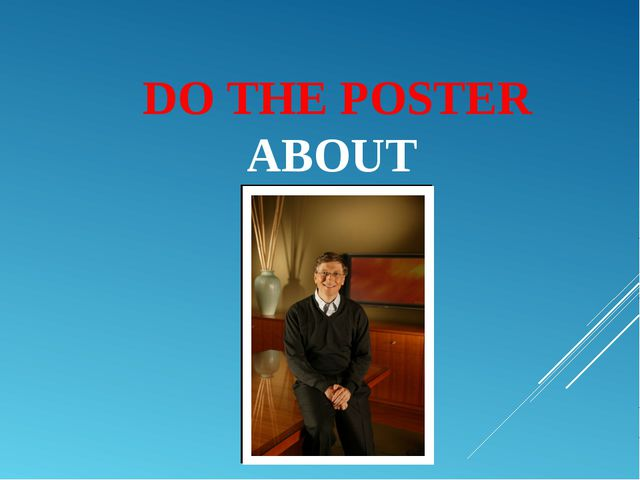 DO THE POSTER ABOUT