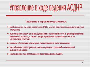 * Требования к управлению достигаются: приближением пунктов управления (ПУ) к