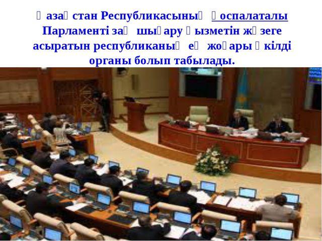 Қазақстан Республикасының қоспалаталы Парламенті заң шығару қызметін жүзеге...