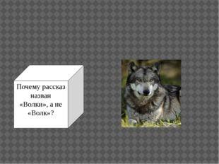 Почему рассказ назван «Волки», а не «Волк»?