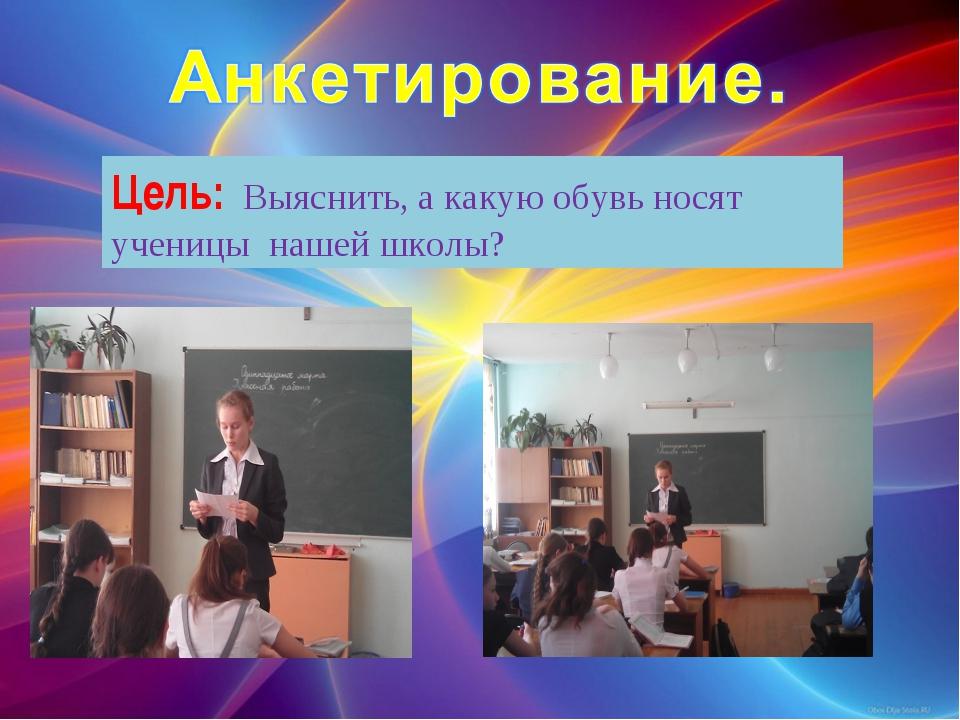 Цель: Выяснить, а какую обувь носят ученицы нашей школы?