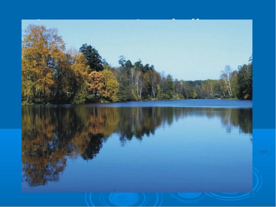 In unserem Land gibt es viele große Flüsse. Das sind die Wolga, der Don, die...