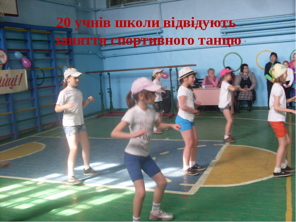20 учнів школи відвідують заняття спортивного танцю