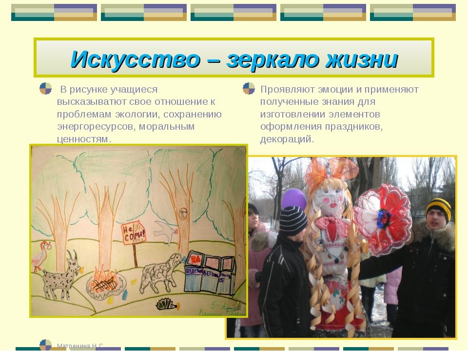 В рисунке учащиеся высказыватют свое отношение к проблемам экологии, сохране...