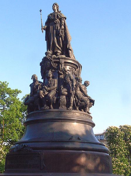 File:Denkmal für Katharina II. in St. Petersburg.jpg