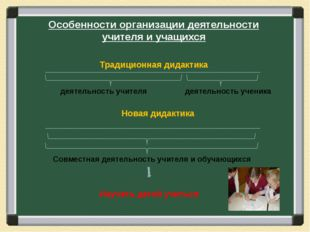 Особенности организации деятельности учителя и учащихся деятельность учителя