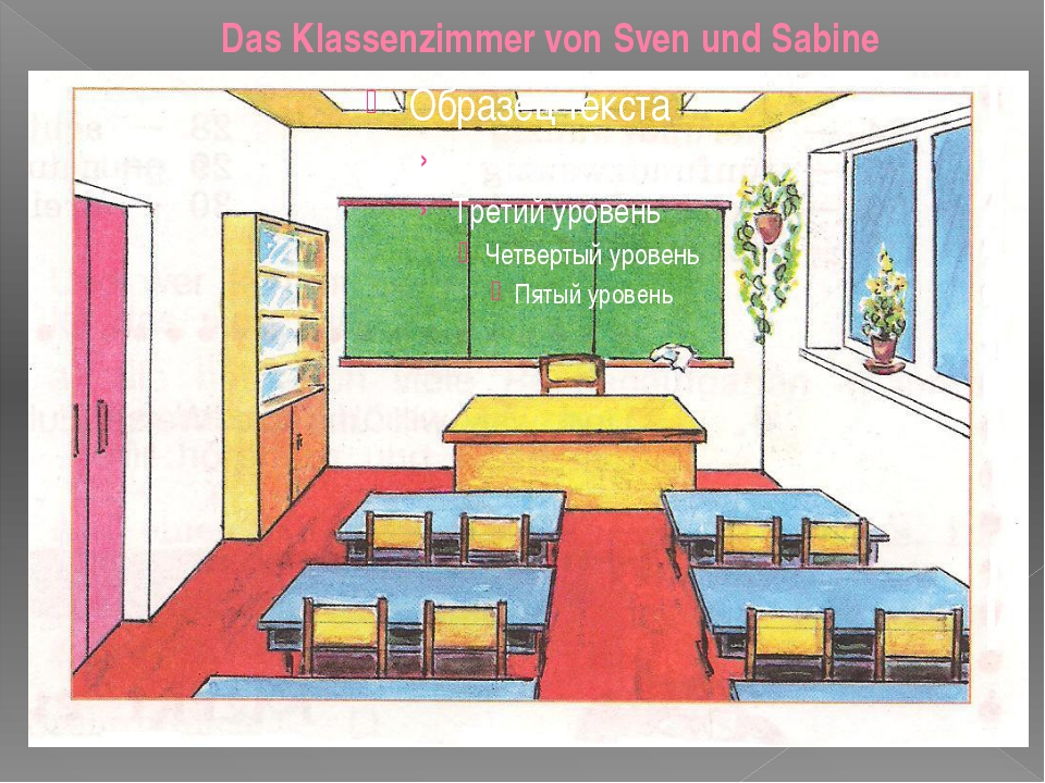 Das Klassenzimmer von Sven und Sabine