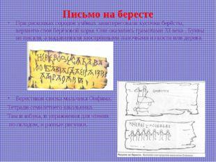Письмо на бересте При раскопках городов учёных заинтересовали кусочки берёсты