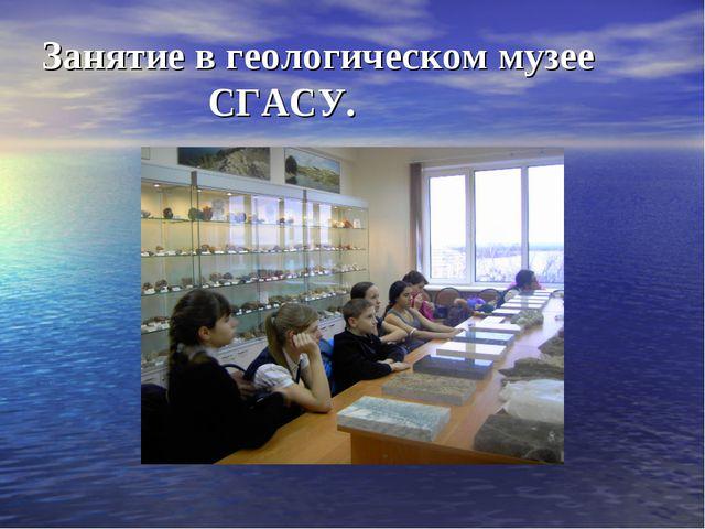 Занятие в геологическом музее СГАСУ.