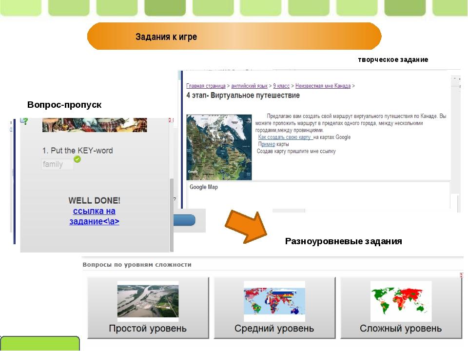 Вопрос-пропуск Разноуровневые задания Задания к игре творческое задание Пивне...