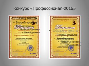 Конкурс «Профессионал-2015»