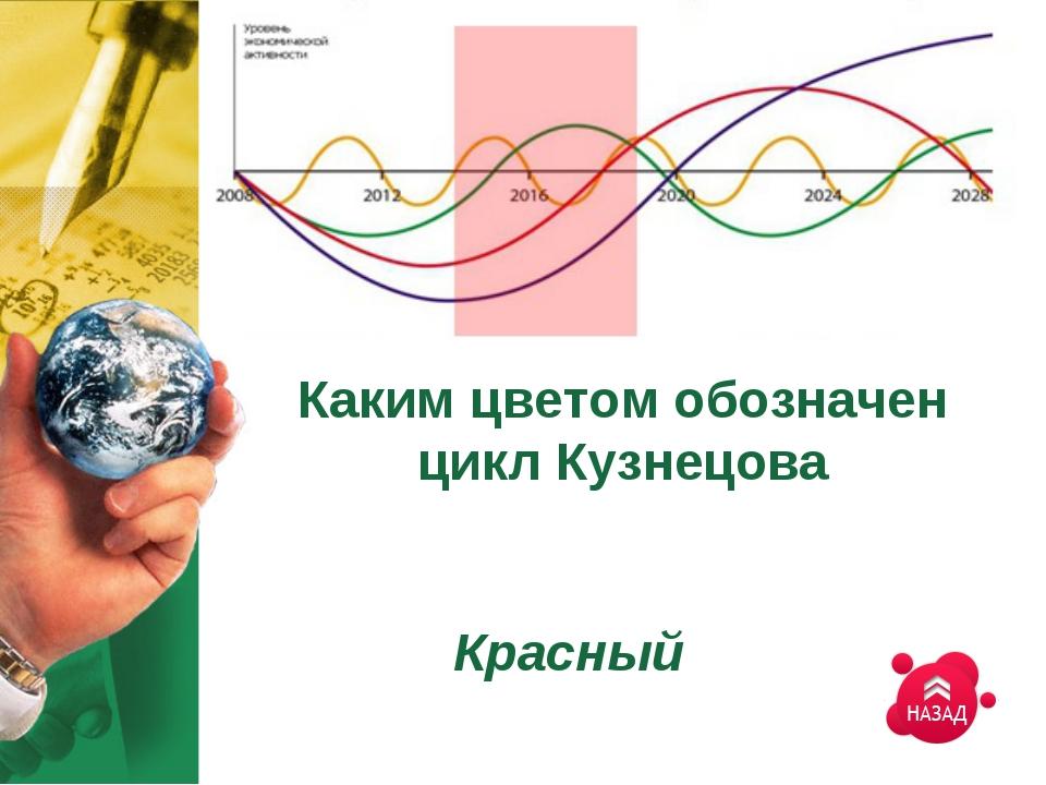 Каким цветом обозначен цикл Кузнецова Красный