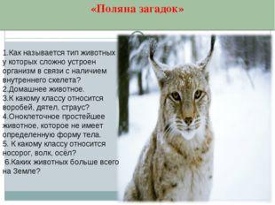 1.Как называется тип животных у которых сложно устроен организм в связи с нал