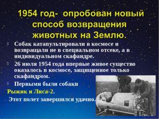 Собак катапультировали в космосе и возвращали не в специальном отсеке, а в ин