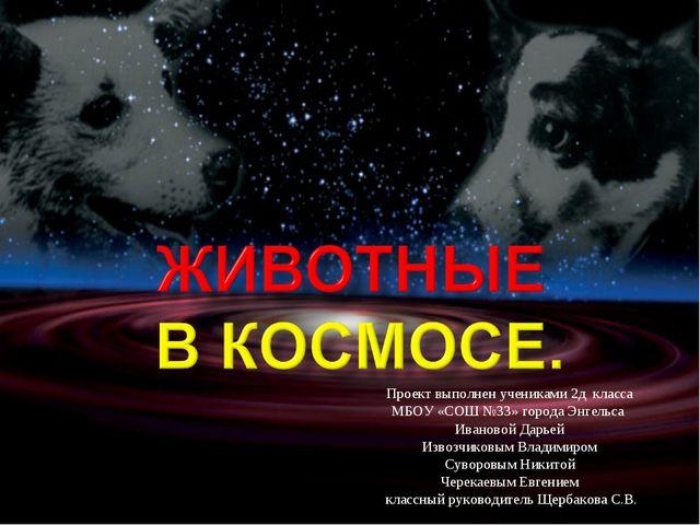 Проект выполнен учениками 2д класса МБОУ «СОШ №33» города Энгельса Ивановой Д...