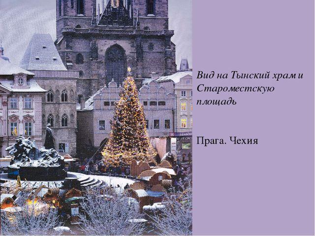 Вид на Тынский храм и Староместскую площадь Прага. Чехия
