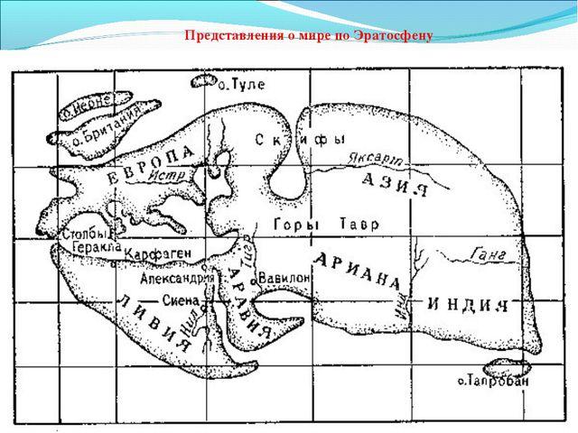 Эратосфен III в.до н.э Представления о мире по Эратосфену