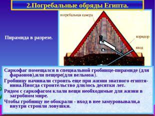 2.Погребальные обряды Египта. Саркофаг помещался в специальной гробнице-пирам