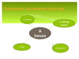 Технология составления кластера. A hall A bedroom A house a living room A kit