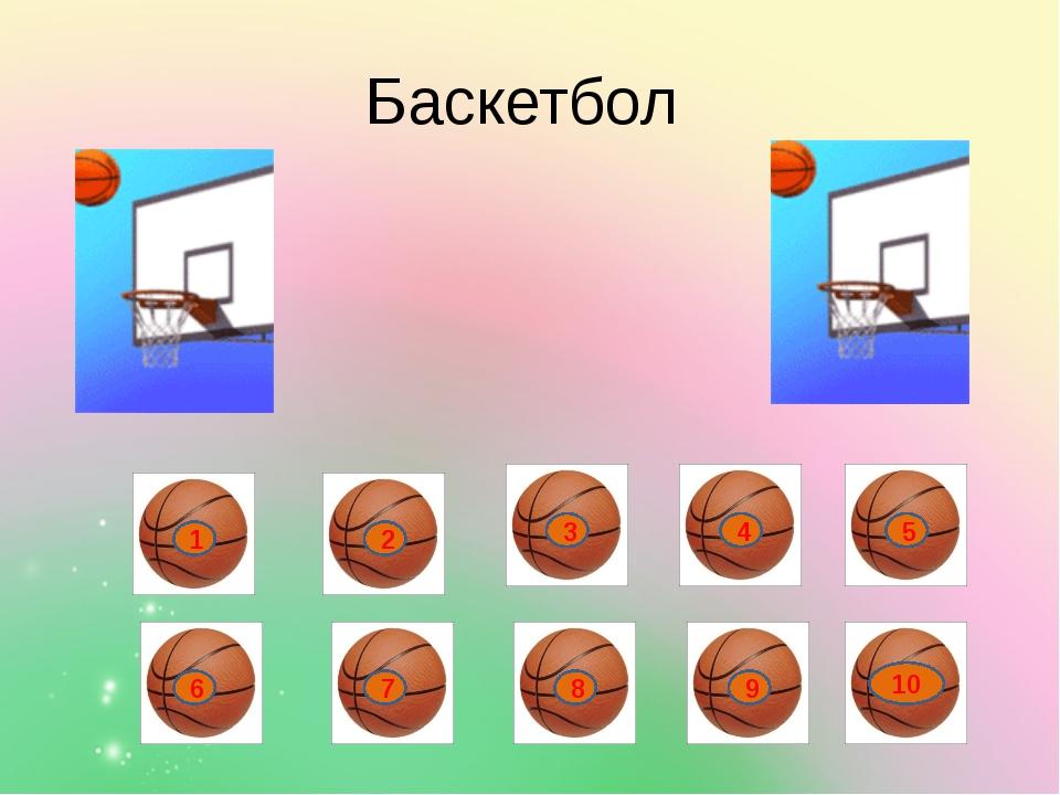 Баскетбол 1 2 3 4 5 6 7 8 9 10