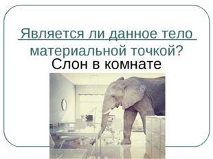 Является ли данное тело материальной точкой? Слон в комнате