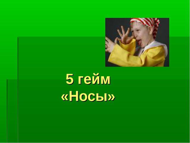 5 гейм «Носы»