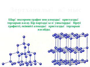 Шарөзектермен графит пен алмаздың кристалдық торларын жасау. Бір партадағы оқ