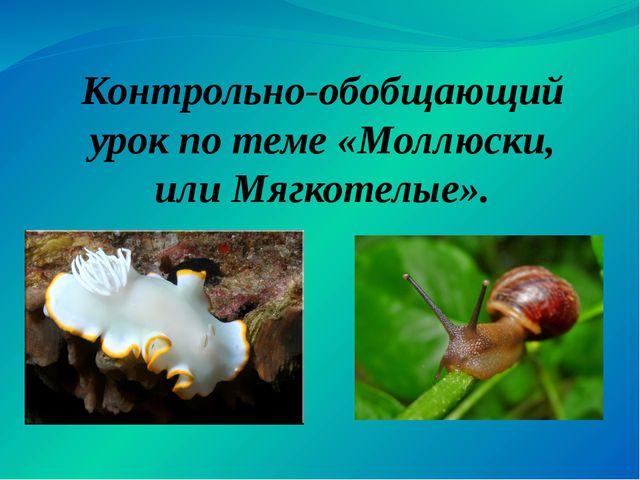Контрольно-обобщающий урок по теме «Моллюски, или Мягкотелые».