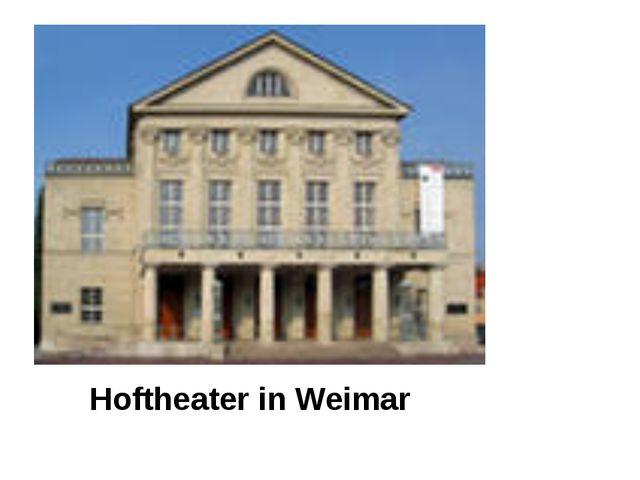Hoftheater in Weimar