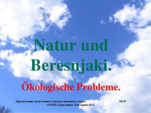 Natur und Beresnjaki. Ökologische Probleme. Презентацию подготовила учитель н