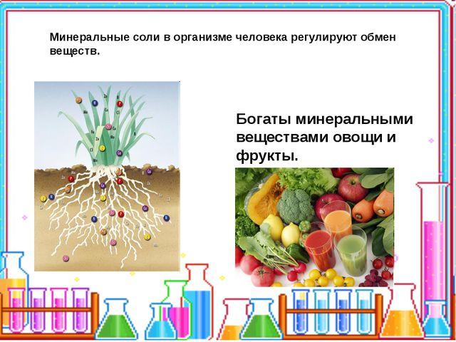 Минеральные соли в организме человека регулируют обмен веществ. Богаты минер...