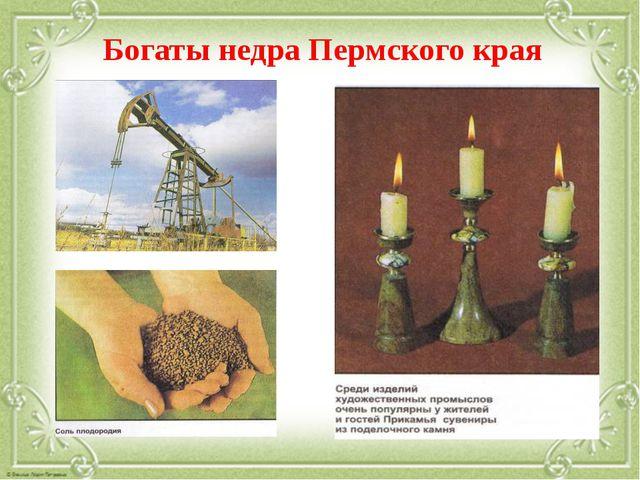Богаты недра Пермского края