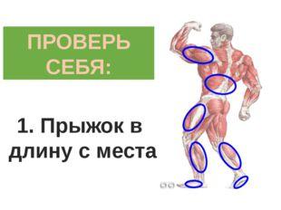 ПРОВЕРЬ СЕБЯ: 1. Прыжок в длину с места