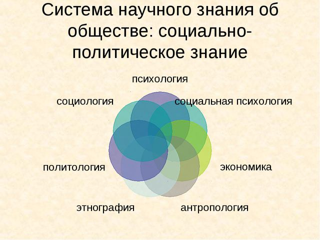 Система научного знания об обществе: социально-политическое знание