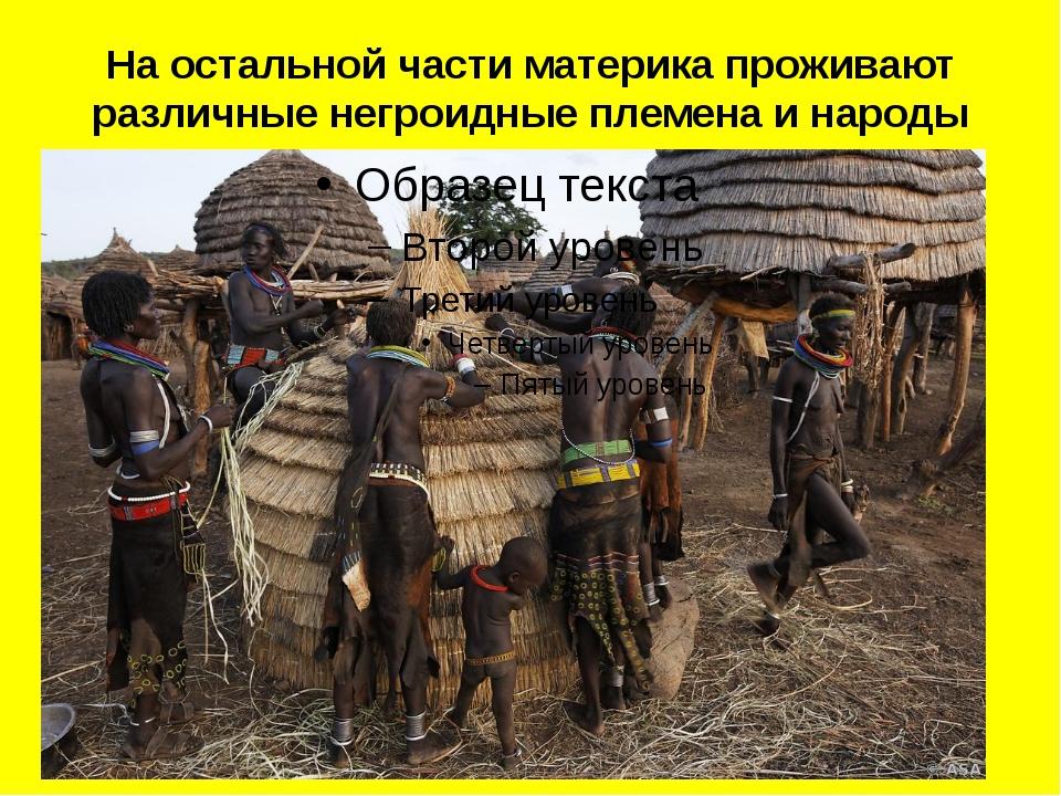 На остальной части материка проживают различные негроидные племена и народы
