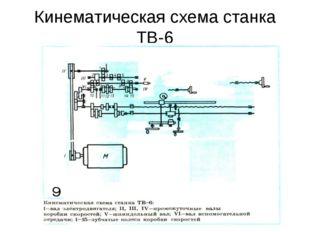 Кинематическая схема станка ТВ-6