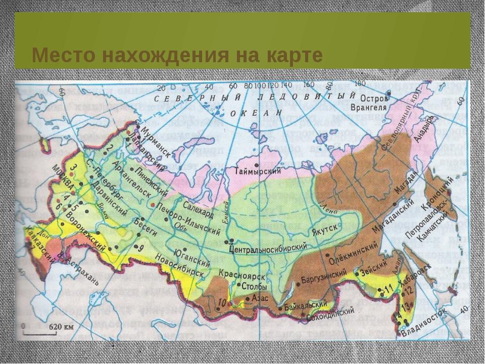 Место нахождения на карте