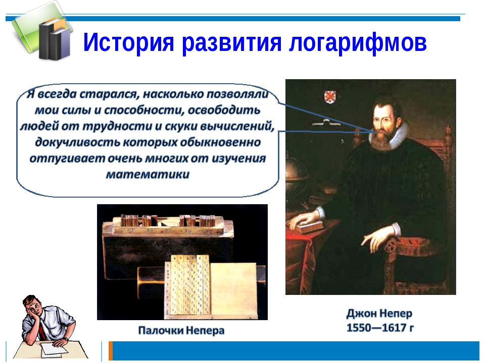 История развития логарифмов