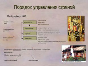 Великий князь Боярская дума Приказы Наместники Центральные органы власти -гла