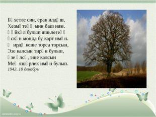 Бәхетле син, ерак илдәш, Хезмәтеңә мин баш иям. Һәйкәл булып яшьлегеңә Үск