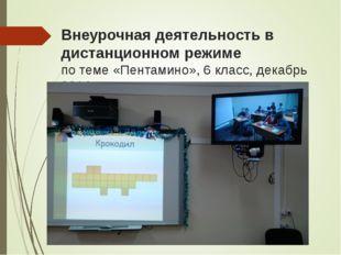 Внеурочная деятельность в дистанционном режиме по теме «Пентамино», 6 класс,