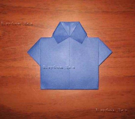 Открытка-рубашка в технике оригами