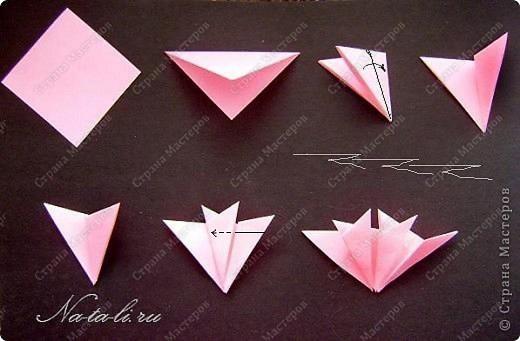 Мастер-класс День Победы Оригами Гвоздичка к Дню Победы Бумага фото 4