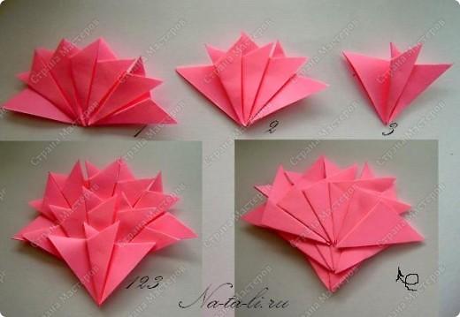 Мастер-класс День Победы Оригами Гвоздичка к Дню Победы Бумага фото 5