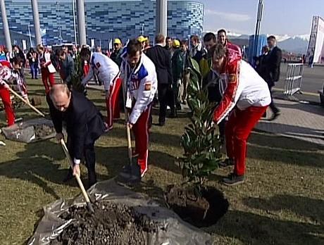 В Олимпийском парке Сочи заложили аллею Победителей