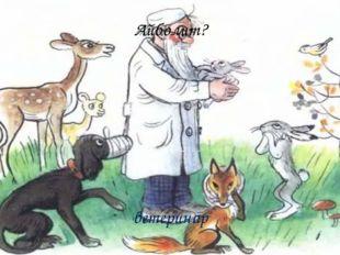 Айболит? ветеринар