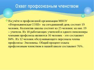 На учёте в профсоюзной организации МКОУ «Второкаменская СОШ» на сегодняшний д